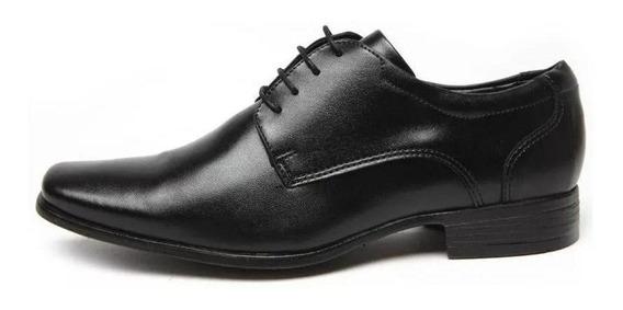 Sapato Mariner Garden Couro Social Cadarço - Atex Black