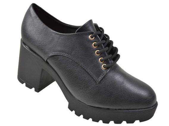 Sapato Abotinado Tratorado Vizzano R.1294-100 Preto