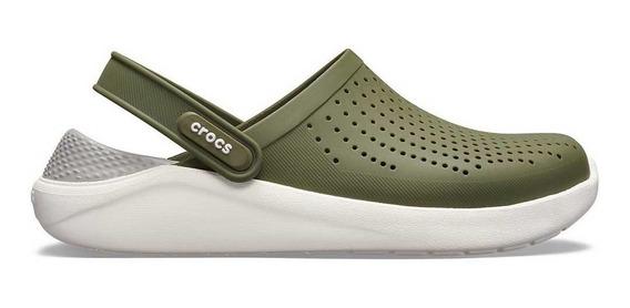 Crocs Literide Clog Hombre Mujer Gris Blanco Originales