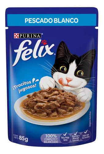Imagen 1 de 1 de Alimento Felix Para Gato En Sobre Pescado Blanco Salsa 85g