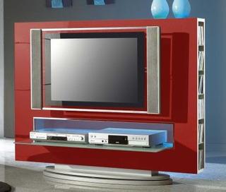 Mueble Para Lcd Led Moderno Laqueado Living Ench En Mad Nat