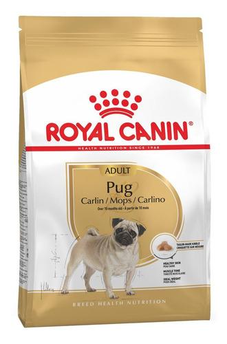 Ração Royal Canin Breed Health Nutrition Pug para cachorro adulto da raça pequena sabor mix em saco de 7.5kg