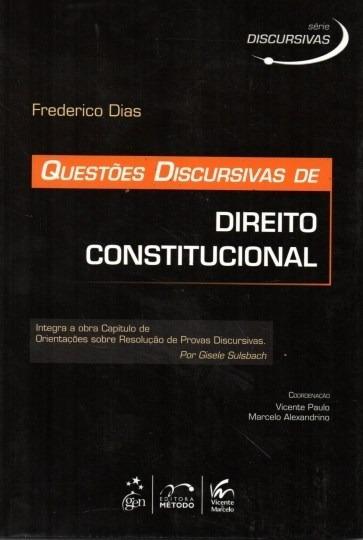 Livro Questões Discursivas De Direito Constitucional Frederi