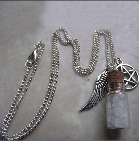 Colar Amuleto Sobrenatural Sal Grosso Pentagrama Original