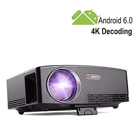 Proyector Led Gp80up 1800lm Hdmi Usb Vga , Android 6.0 Wifi