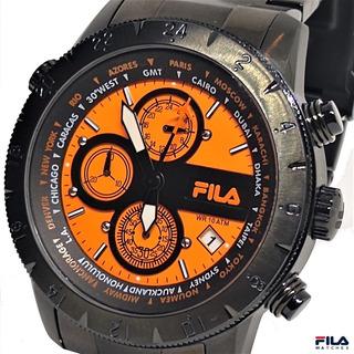 Reloj Fila Multi 24 Gtm Worldtimer Steel Blac / Japan Quartz
