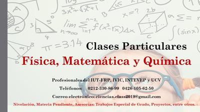 Clases Particulares De Física, Química Y Matemática