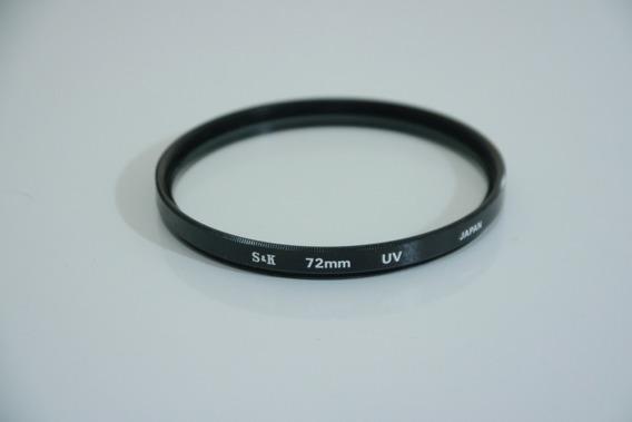 Filtro Uv S&k 72mm Japan
