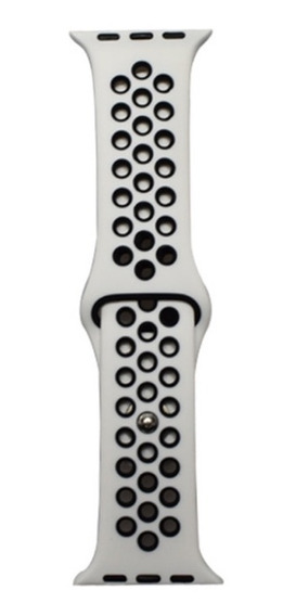Pulseira Estilo Nike Para Apple Watch 38/40mm Branca Preto