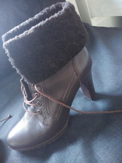 Botas 37 Borcegos Zapato Febo Cuero Vacuno