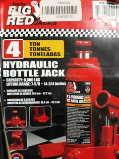 Gato Tipo Botella Marca Big Red De 4 Toneladas