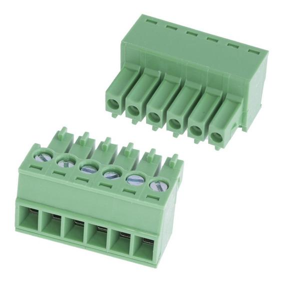 Bornera Terminal Conector De Montaje En Pcb 6 Pin 15edgk-3.5