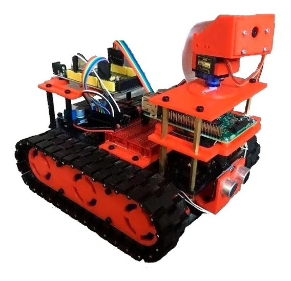 Robot Oruga, 4 Motores,raspberry Pi3, Camara, Completo