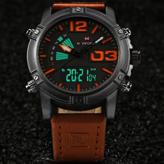 Relógio De Pulso Esportivo Masculino Naviforce 9095