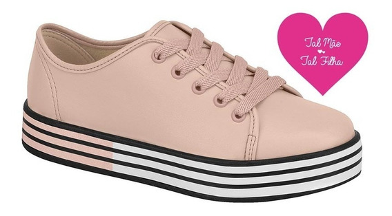Tênis Infantil Molekinha Flatform Branco/rosa Original 2019