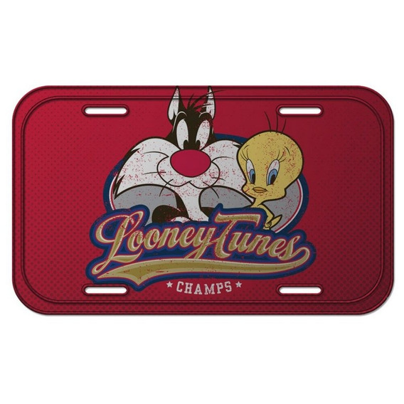 Placa De Metal Decorativa Looney Tunes Piu-piu E Frajola