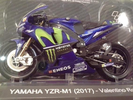 Miniatura Rossi 46 Motogp 2017 Yamaha M1 Altaya 1:18 (11 Cm)