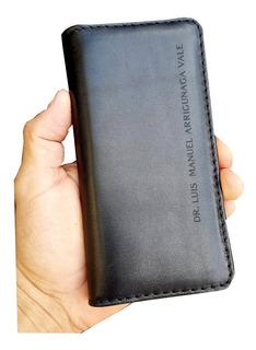 Funda De Piel Genuina Personalizada Motorola Moto Z2 Play