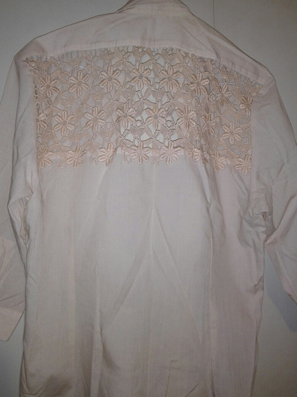 Camisa Con Broderie