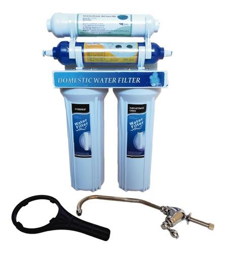 Filtro Purificador Agua 4 Etapas Con Biocida Y Alkalinizador