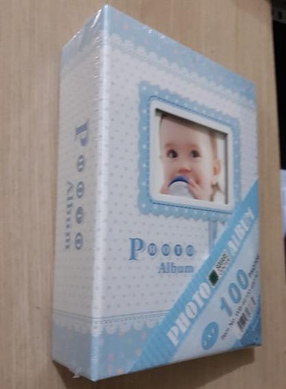 Álbum Do Bebê Para 100 Fotos 10x15 Azul Ou Rosa