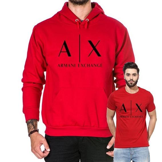 Moletom Kit Blusa De Frio E Camiseta Masculina Casaco