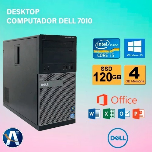 Desktop Computador Dell 7010 Core-i5 3° - 4gb Ram Ssd 120gb