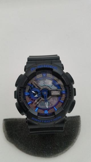 Reloj Casio G Shock Ga-110 Negro Con Azul