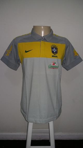 Camisa Polo Da Seleção Brasileira De Futebol - Cinza