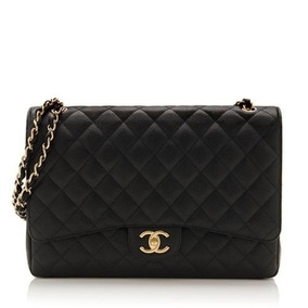 Bolsa Chanel Maxi 33 Caviar Autenticidade Com Caixa Original