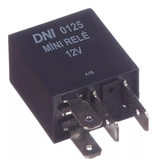 Rele Mini Auxiliar 12v 40a Com 4 Pinos Com Resistor Dni0125