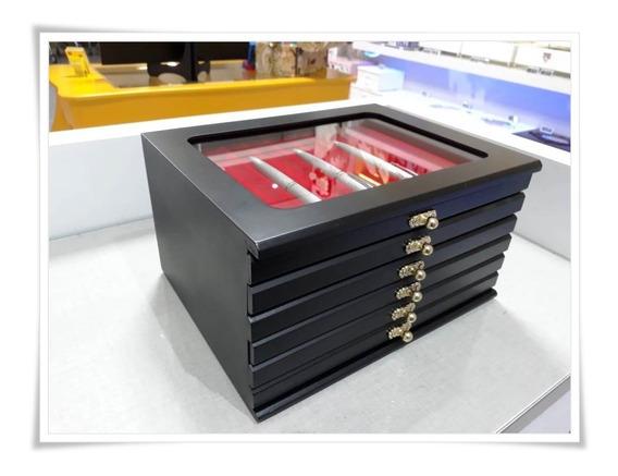 Porta Caneta Case Coleção Tinteiro 60 Canetas Cor Vermelho