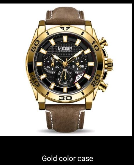 Relógio Megir De Luxo Original 2094