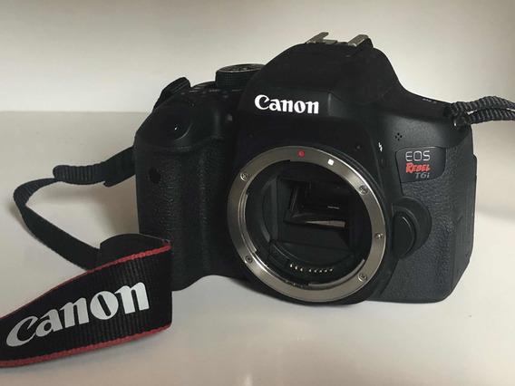 Canon T6i Seminova + Cartão De Memória 32g + Bateria + Tripé