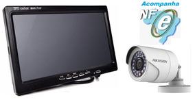 Kit 1 Câmera Vigilância Para Porteiro + Monitor 7º Montado