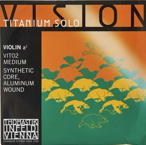 Encordoamento Violino 4/4 Thomastik Vision Titanium Solo