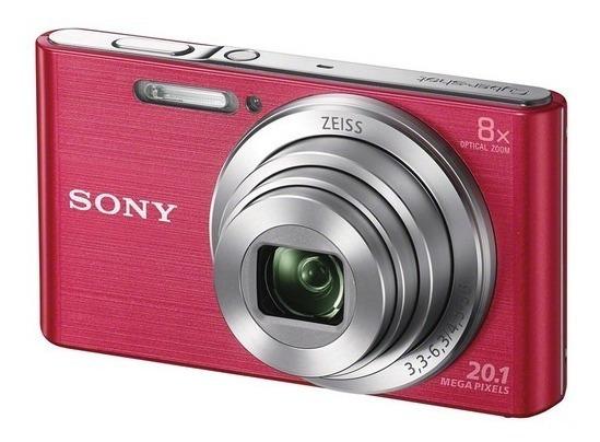 Câmera Sony Dsc-w830 Rosa 20.1 Mp Zoom 8x W830