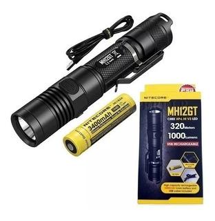 Lanterna Tática Nitecore Mh12gt 1000 Lúmens+bateria 3.400mah