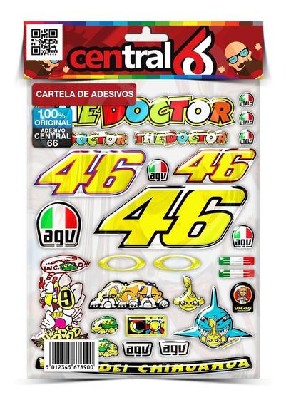 Cartela Valentino Honda Nx-4 Falcon 400 24 Adesivos Re