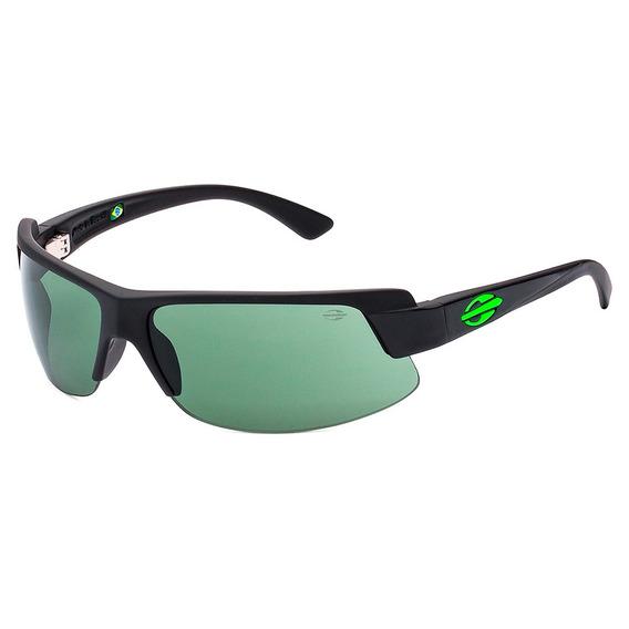 Óculos De Sol Mormaii Gamboa Air 3 Preto Fosco Lente Verde