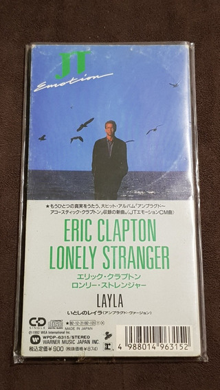 Eric Clapton Lonely Stranger Layla Cd Single Japonês 3 Raro