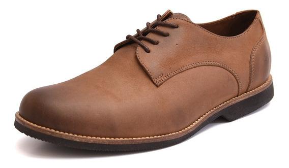Sapato Masculino Oxford Tamanho Especial Marfim Couro 6840/1
