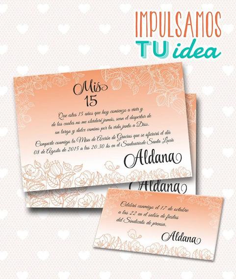 Tarjeta De 15 Para Imprimir - Invitación Y Personal Aldana