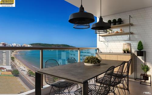 Lançamento Apartamento 02 E 03 Quartos De Frente P/ Mar Na Praia Do Morro - Ap01207 - 34741912
