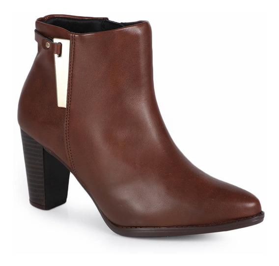 Ankle Boots Feminina Beira Rio Recorte