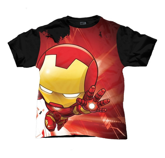 Aurimoda Playera Oficial Infantil Marvel Iron Man Para Niño