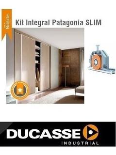 Kit Herrajes Frente De Placard Ducasse Patagonia Slim 2 Mts