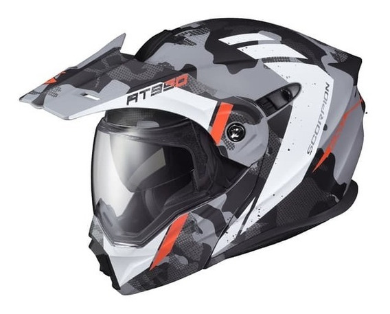 Casco Doble Proposito Scorpion Exo At950 Outrigger Gris