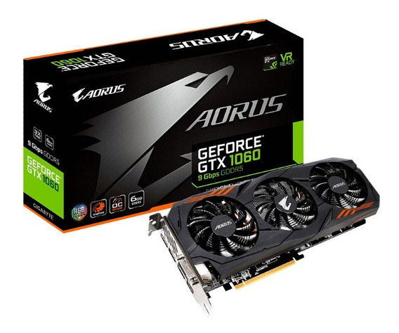 Aorus Geforce Gtx 1060 6g Usada En Excelente Estado