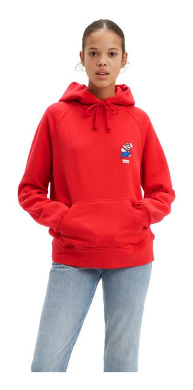 Sudadera De Mujer Levis X Super Mario Rojo